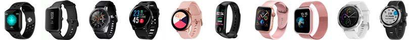 Cores de smartwatches mais comuns