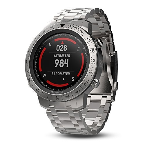 Garmin Fenix Chronos Steel with Brushed Stainless Steel Band