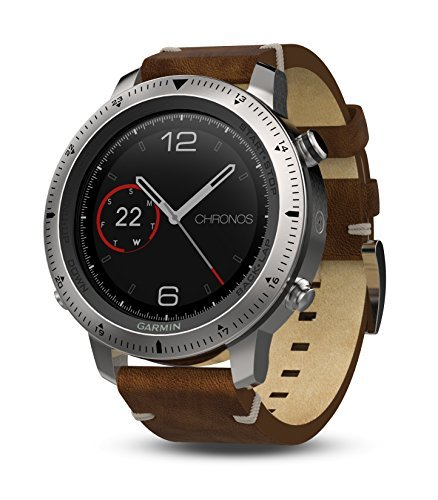 Garmin Fenix Chronos Steel with Vintage Leather Band