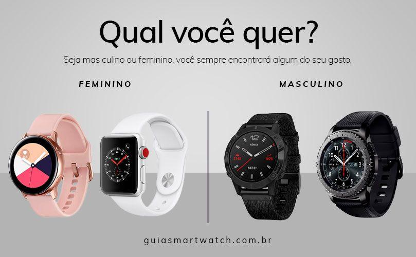 Smartwatch Feminino e Masculino